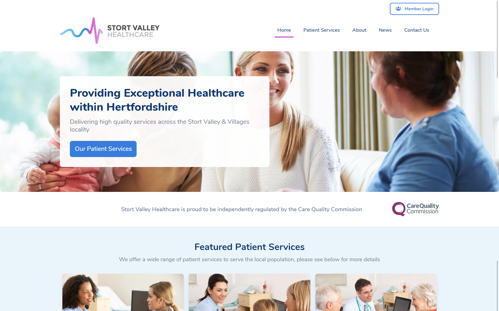Healthcare Federation Website screenshot